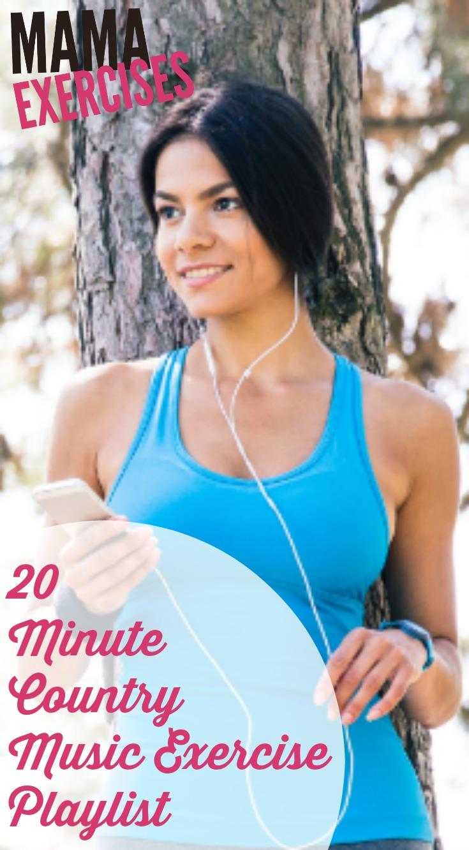 20 Minute Country Music Exercise Playlist - MamaExercises.com