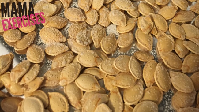 Enjoy your pumpkin seeds! - How to roast pumpkin seeds - MamaExercises.com