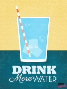 Drink Up! Water Poster Printable from MamaExercises.com