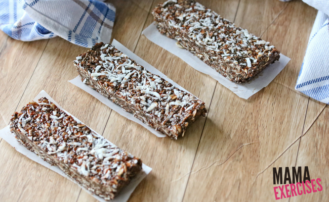 Breakfast Protein Bar - Chocolate Almond Chia Bars - MamaExercises.com