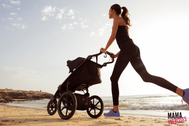 The best tips for running with a jogging stroller from MamaExercises.com