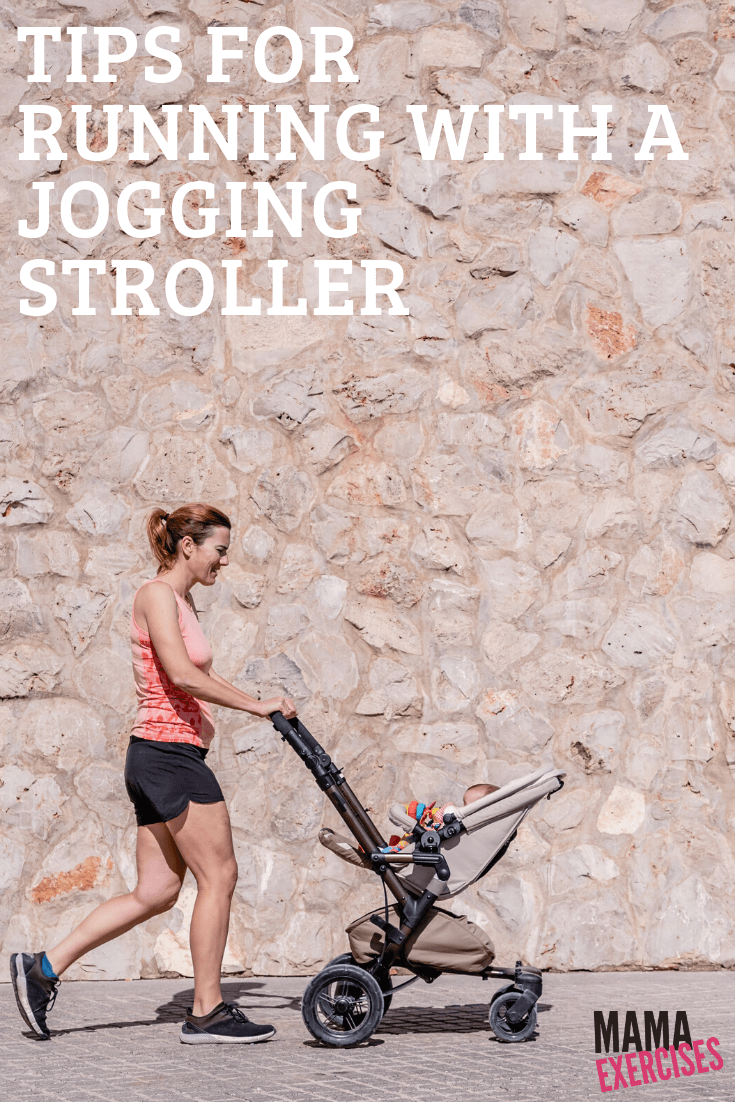 Going running? These tips for running with a jogging stroller will help you get in shape! Find more at MamaExercises.com