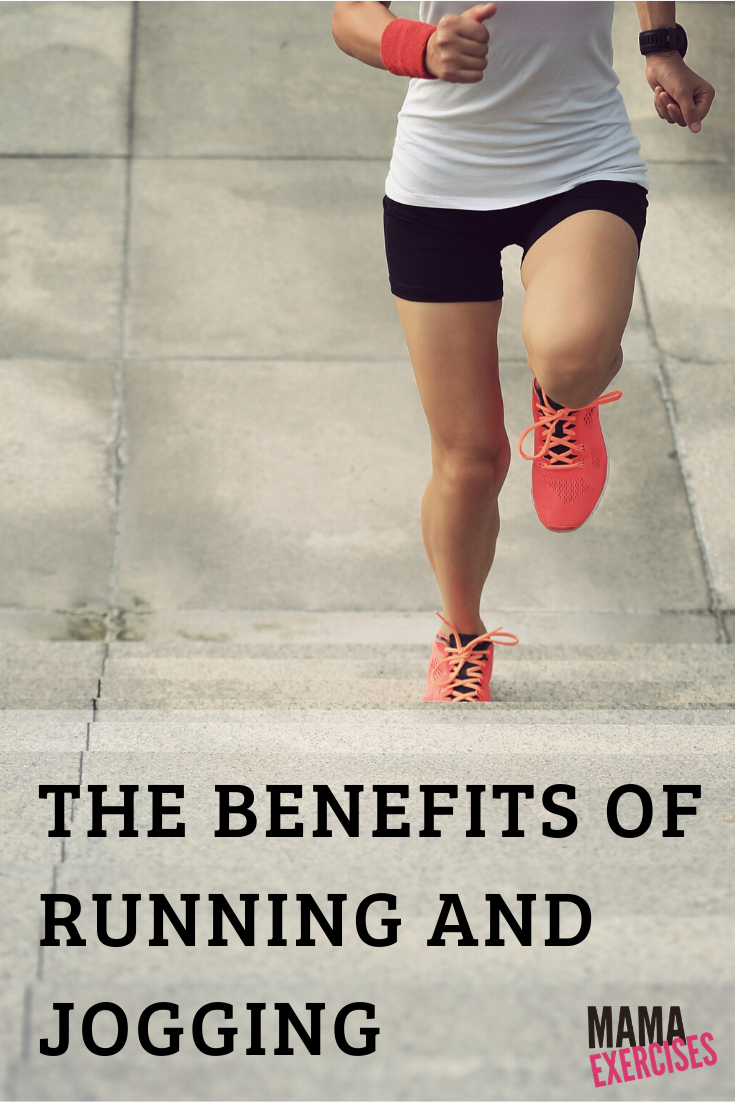 The Benefits of Running and Jogging - There are many! Read more at MamaExercises.com
